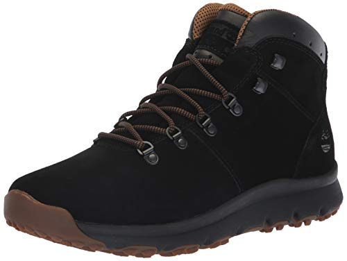 (Timberland Men's World Hiker Mid Ankle Boot, Black Suede, 10 Medium US)