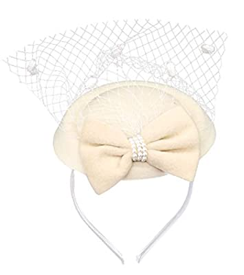 Coolwife Fascinators Hats 20s 50s Hat Pillbox Hat Cocktail Tea Party Headwear Veil Girls Women