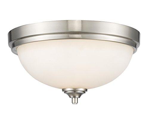 Z-Lite 435F2-BN 2 Light Flush Mount, Brushed Nickel