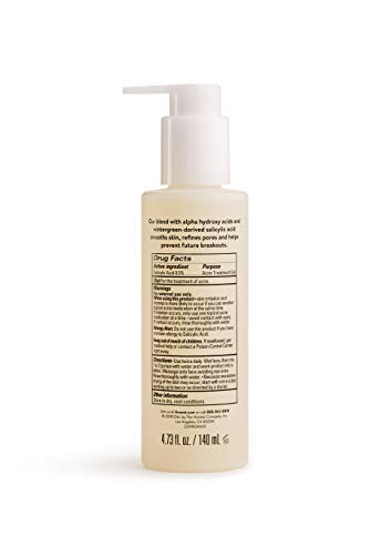 Honest Beauty Clearing Cleanser with Alpha Hydroxy Acids & 0.5% Wintergreen-Derived Salicylic Acid Acne Treatment | Synthetic Fragrance Free, Cruelty Free | 4.73 fl. oz.