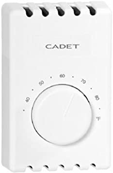 Cadet Manufacturing Co 08121 White Single Pole Thermostat Hvac Controls Amazon Com