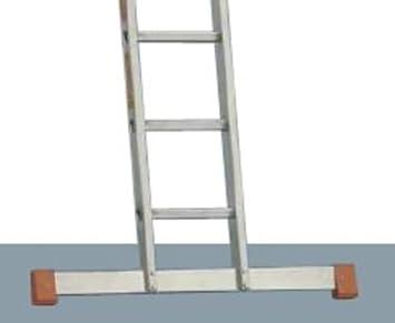 Escalera de aluminio Topic 1034 con travesaño 16 peldaños, soporte de altura de 3,40 M, longitud de 4,60 M: Amazon.es: Bricolaje y herramientas