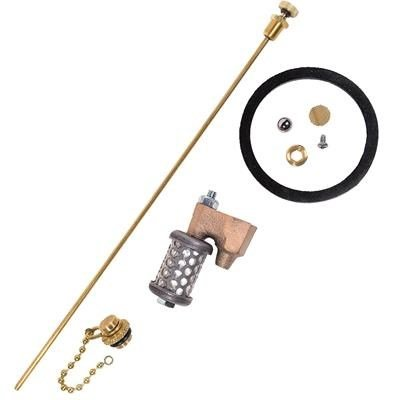 Drip Torch Repair Kit - Replacement Parts Check-Valve Ball, Check-Valve Seat, Outlet Screen, Plug Assembly, Lock Ring and Air-Breather Valve for Ben Meadows Drip Torches