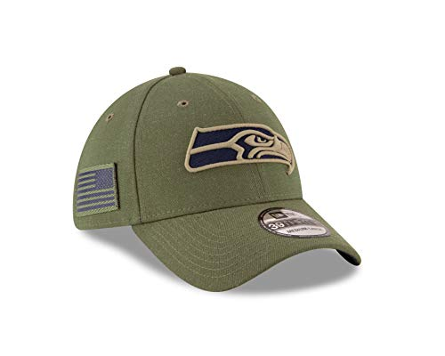 New Era Seattle Seahawks NFL 39THIRTY 2018 Sideline Salute to Service Hat