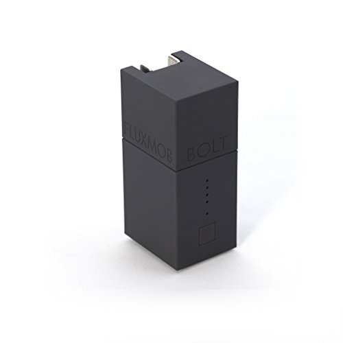 FLUXMOB BOLT Portable Power Adapter: USB Wall Charger and Universal Battery Backup, (Stealth Backup)