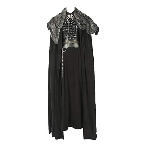 CosplayDiy Women's Suit for Game of Thrones IX Sansa Stark Cosplay Costume L Black]()