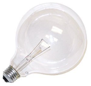 Bulbrite 100G40CL 100W G40 Globe 125V Medium Base Light Bulb, Clear Clear Decorative Globe Bulbs