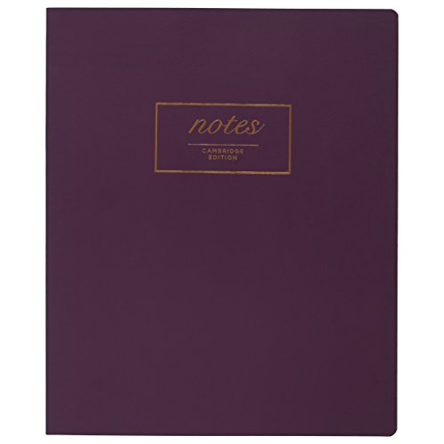 "Mead Cambridge Meeting Notebook / Journal, Purple, 80 Casebound Sheets, 11"" x 9"" Inches (49559)"