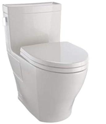TOTO MS624124CEFG#12 Legato WASHLET Elongated 1.28 GPF Universal Height Skirted CeFiONtect, Beige-MS624124CEFG One-Piece Toilet Sedona Beige