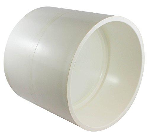 Canplas 193006 PVC DWV Coupling HXH, 6-Inch, White -