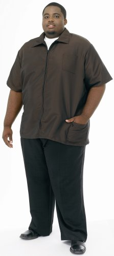 A Size Above Big & Tall Barber Jacket, Chocolate Brown, 4X