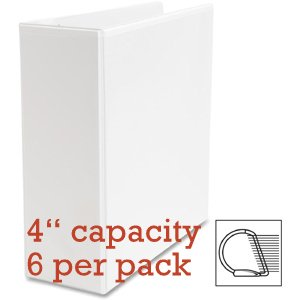 Value Pack of 6 Each White View Binders, Letter Size, 8.5 X 11, D-ring (4