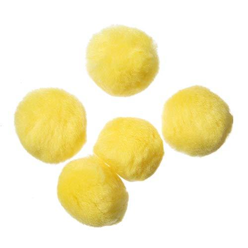Bulk Buy: Darice DIY Crafts Acrylic Pom Poms Dark Yellow 2 inches 8 pieces (6-Pack) 10179-34 ()