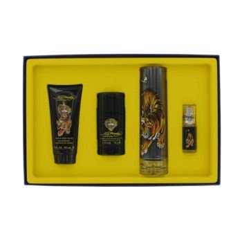 Gift Set -- 3.4 oz Eau DeToilette Spray + .25 oz Mni EDT Spray + 3 oz Shower Gel + 2.75 oz Deodorant Stick by Christian (0.25 Ounce Cologne Spray)