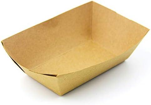 Fit Meal Prep [250 Pack] 1 Lb Heavy Duty desechables de papel Kraft Food Bandejas grasa resistente comida rápida de cartón barco de la cesta pa: Amazon.es: Bricolaje y herramientas