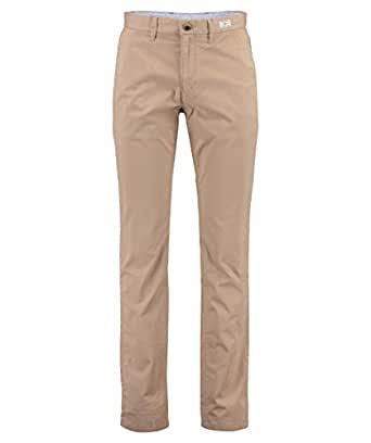 TOMMY HILFIGER Men's Denton Strght Chino, Batique Khaki, 30 W x 32 L