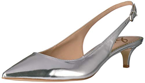 (Sam Edelman Women's Ludlow Pump, Soft Silver/Metallic Leather, 9 M US)