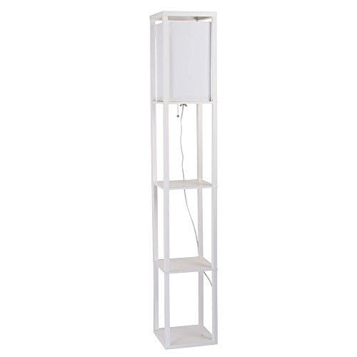 Catalina Lighting 17559 013 Modern Square Etagere Floor Lamp With