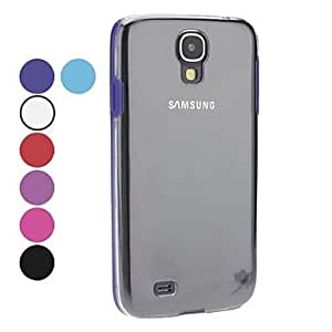 Transparent Hard Case for Samsung Galaxy S4 I9500(Assorted Colors) --- COLOR:Red