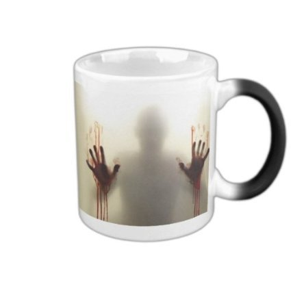 MHNS Morphing mugs the walking dead Coffee Tea Milk Hot Cold Heat Sensitive Color changing Black and White 11 Oz Ceramic Mug by Toy Innovation