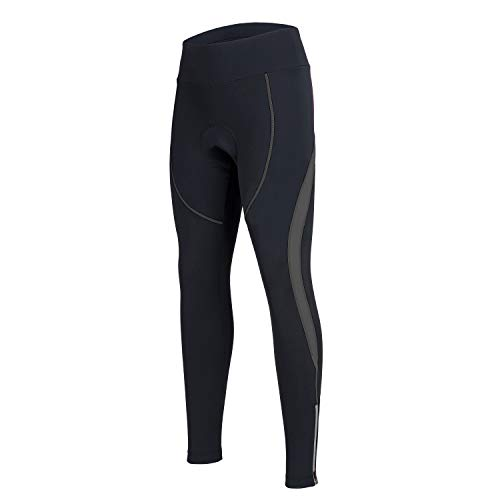 Women's Cycling Pants 3D Padded Compression Tight Long Bike Bicycle Pants with Zipper Pocket - Tights Long