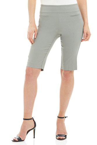 (Rekucci Women's Ease in to Comfort Fit Pull-On Modern City Shorts (18,Silver))