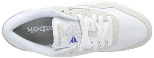 Reebok CL Nylon Zapatillas de Running, Niños Blanco (White/Light Grey 000)