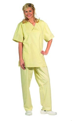 Pantalón para quirófano con cordón amarillo
