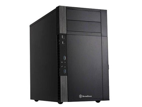 - Silverstone Tek Micro-ATX Mini-DTX, Mini-ITX Mini Tower Plastic with Aluminum Accent Computer Cases PS07B (Black)