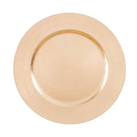 Charger Plates 13 inch Pack of 6 - Metallic Gold