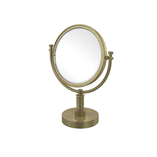Allied Brass DM-4/2X-ABR 8-Inch Table Mirror with 2x Magnification, 15-Inch, Antique Brass