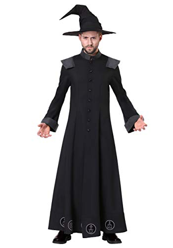Men's Warlock Costume X-Large Black -