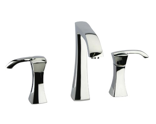 La Toscana 89CR214 Lady 8-Inch Widespread Lavatory Faucet with Pop-Up Drain, Chrome by La Toscana