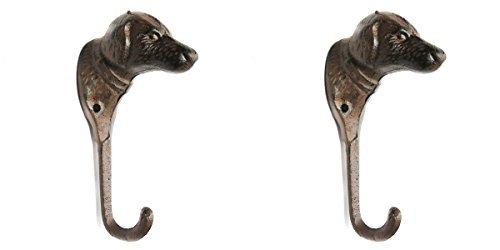 HomeZone® de estilo rústico marrón hierro fundido ganchos ...