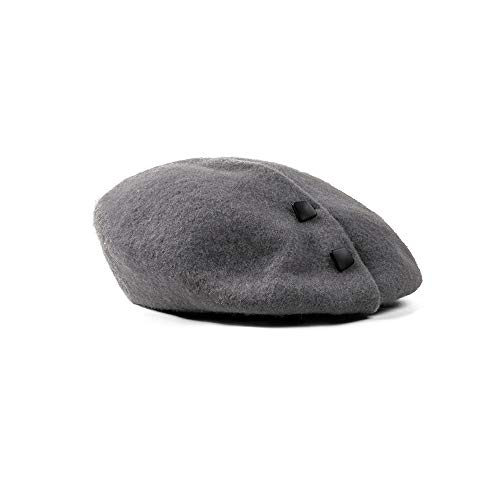 WUSHIYU Womens Beret Children Wool French Beret Little Girl's Artist Solid More Color Women Beret Artist Hat (Color : Gray) -