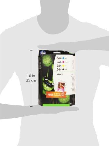HP 364XL - Pack de ahorro de 4 cartuchos de tinta Original HP 364 Negro, Cian, Magenta, Amarillo para HP DeskJet, HP OfficeJet y HP PhotoSmart: Amazon.es: Oficina y papelería