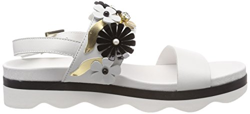 Blu Milonga bianco Women's White Tosca Back C00 Sling Sandals 6wxdndERq