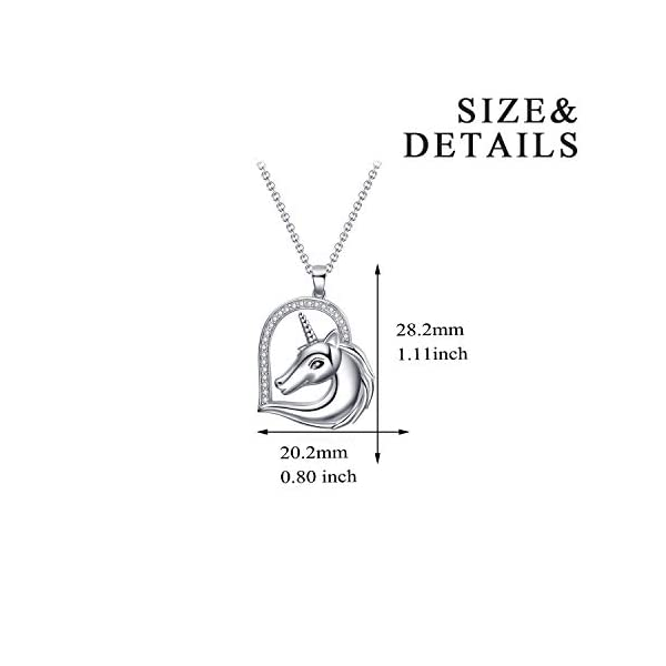WINNICACA Sterling Silver Heart Unicorn Pendant Necklace Christmas Jewelry Gifts for Women 4