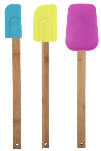 Core Bamboo 7589 Bamboo and Silicone 3-Piece Utensil Set, Ma