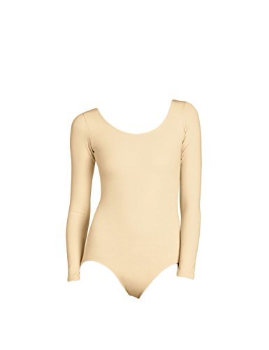 WOLF UNITARD Long Sleeve Leotard for Adult and Child 2X-Large Nude