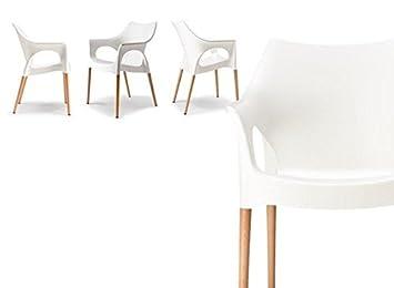 Idea Sillas Bar 4, sillones (Polipropileno, Estructura de ...