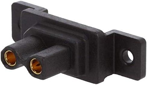 2x XT30G-F Socket DC supply XT30 female PIN2 soldered Colour black 30A AMASS