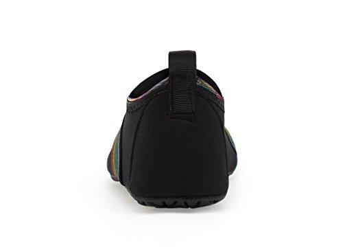 Agua Respirable de Unisex Soles Zapatos de de Zapatos Color LK Natación Sj de Secado schwarz Rápido LEKUNI de Calzado Agua Piscina Playa Tw857q4P