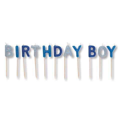 Creative Converting Birthday Boy Pick Letters Candle (Boy Cake Plates)