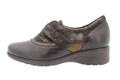 Cómodo Ancho Mujer Velcro Caoba Piesanto Piel Bec Zapato Confort i 16 Calzado 9956 Casual De zdSgxv6wq