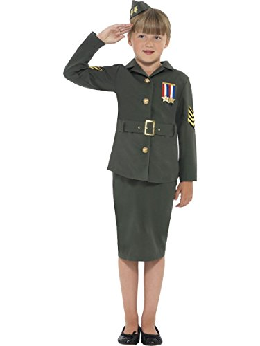 Smiffy's Big Boys' Ww Army Fancy Dres Costume Ages 7-9 Years Green