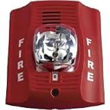 Fire Lite P2R Horn/Strobe, 12/24 Volt, Red, Multi-Candela 15,15/75, 30, 75,110,115 cd