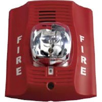 Fire Lite P2R Horn/Strobe, 12/24 Volt, Red, Multi-Candela 15,15/75, 30, 75,110,115 cd