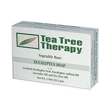 2 Packs of Tea Tree Therapy Eucalyptus Soap Vegetable Base - 3.5 Oz