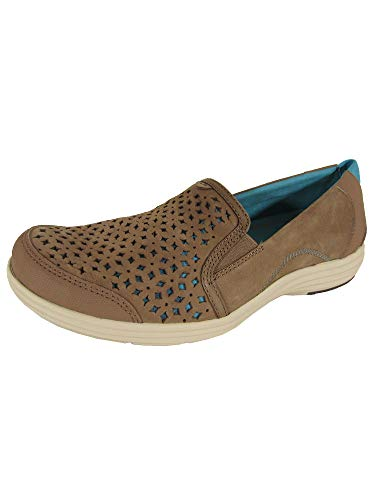 Aravon Women's Bonnie-AR Slip-On Loafer,Brown,7 2A US